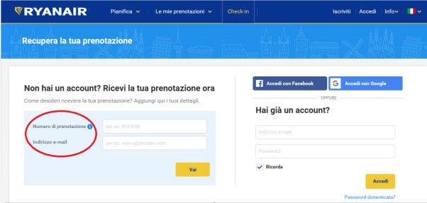 Check in online Ryanair
